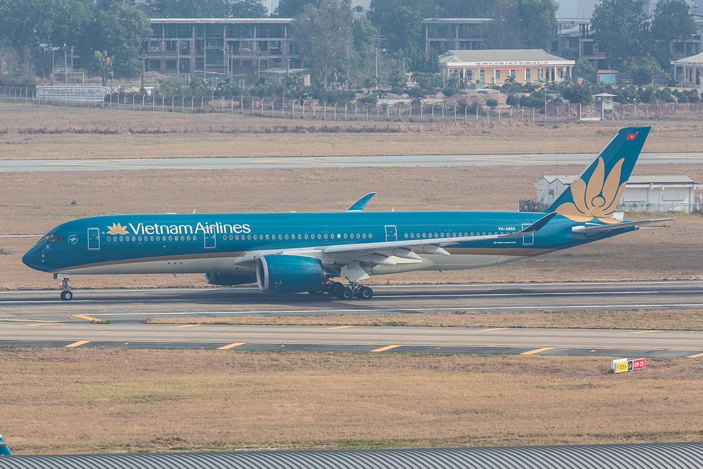 Auch in Vietnam ist es nicht einfach die A350 zu bekommen, sie fliegen fast ausschließlich Fernstrecken zu ungünstigen Zeiten.