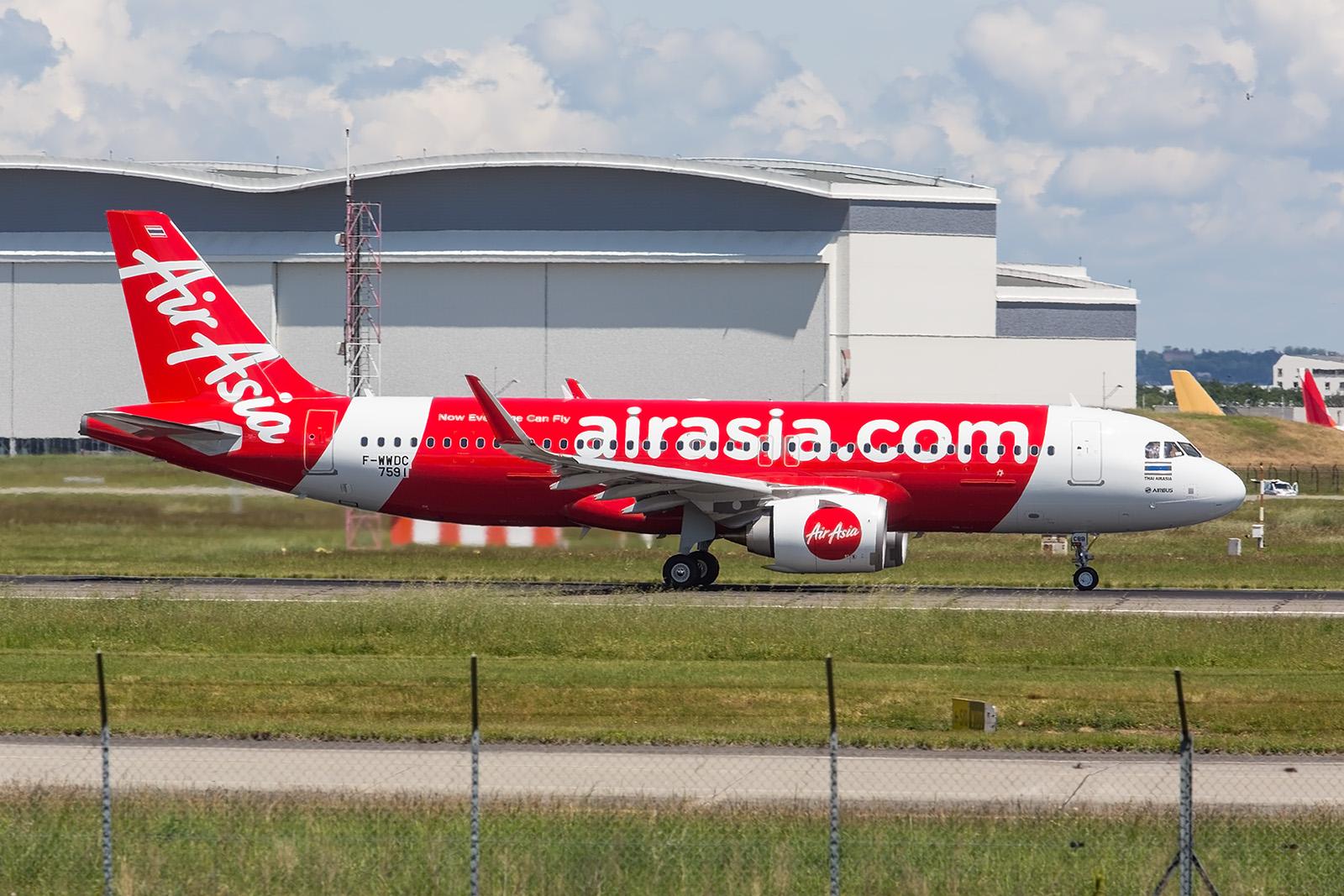Ein A320NEO für die thailändische Air Asia.