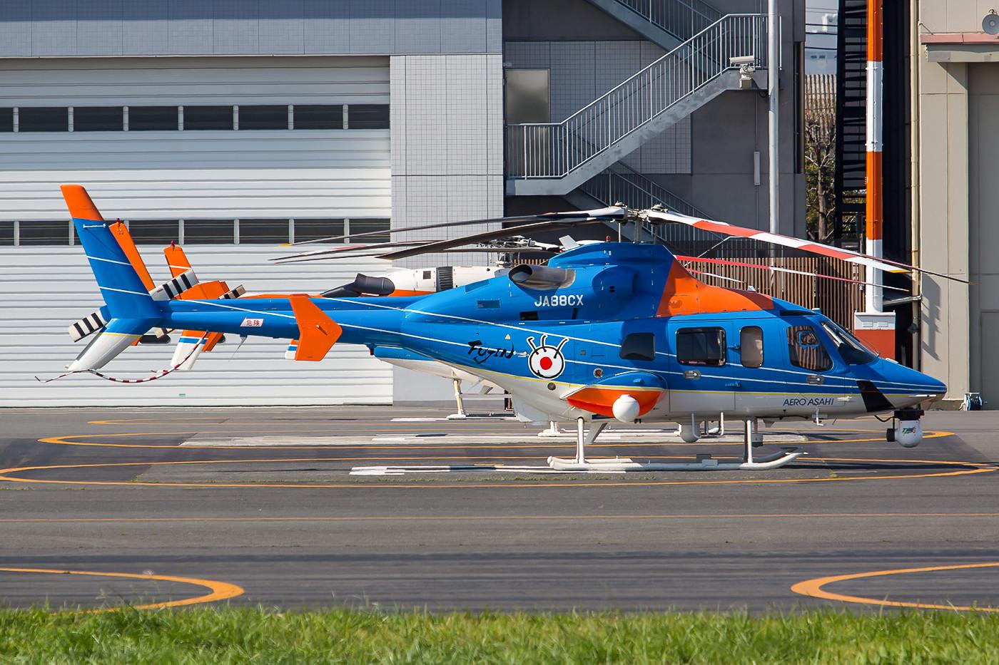 Aero Asahi ist der größte Anbieter von Helicharter-Dienstleistungen in Japan, hier eine Bell 430.