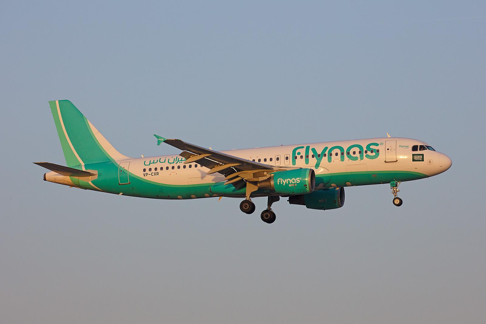 Nochmals ei9ne Maschine der FlyNAS im Abendlicht.