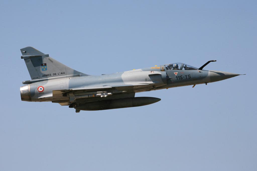 Schneller Überflug der QRA-Maschine bei der Rückkehr.