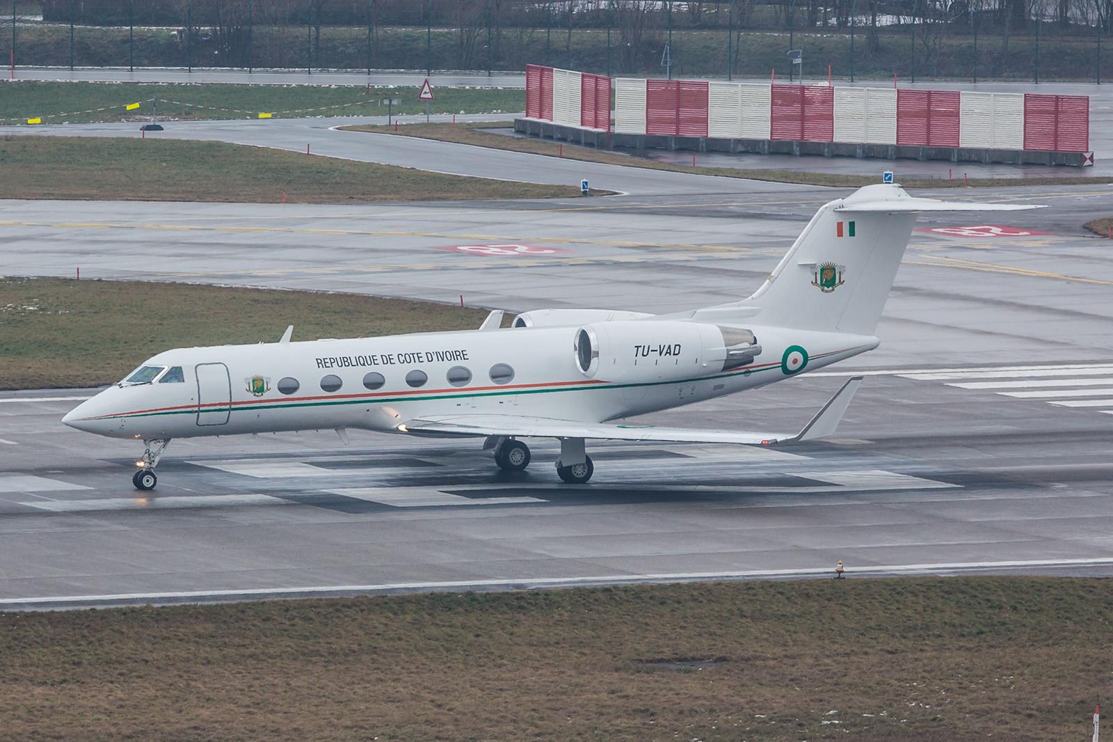 TU-VAD, Gulfstream IV von der Elfenbeinküste.