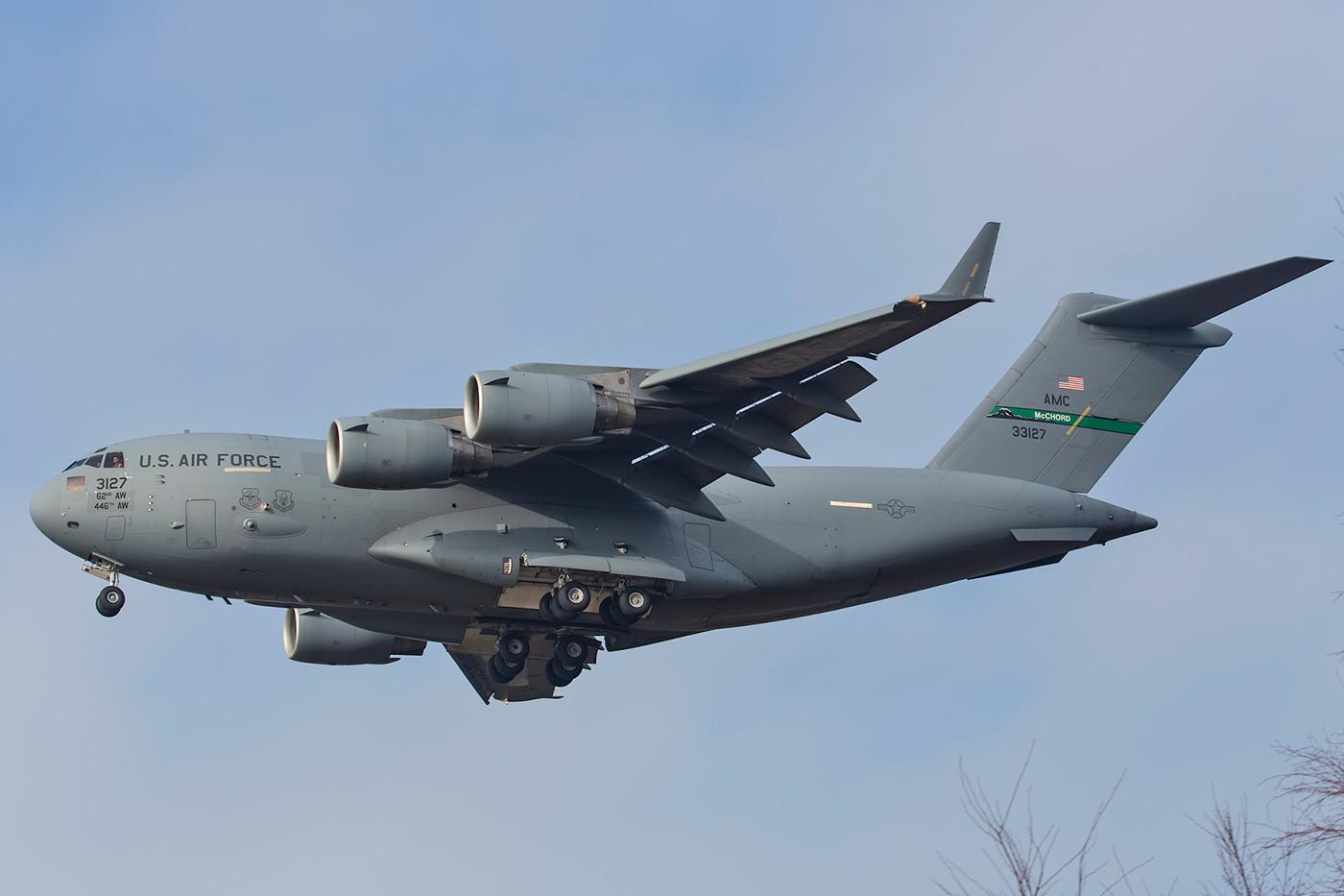 SPM 13.02.2015; 03-3127, C-17A, 62nd AW Joint Base Lewis McChord (Washington)