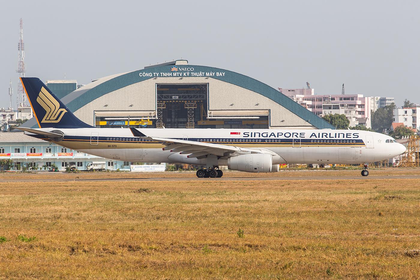Die A330 sind die kleinsten Maschinen in der Flotte der Singapore Airlines.