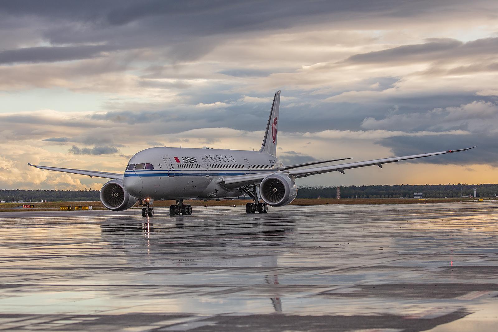 Zum Teil erinnerte das Terminal 2 an den Flughafen von Peking mit bis zu acht Air China Fliegern.