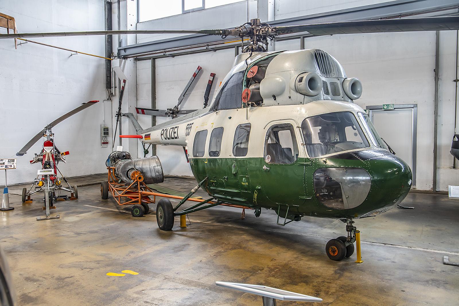 Wernigerode - Mil Mi-2U der ehemaligen Volkspolizei.