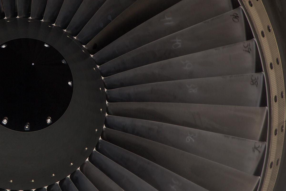 Blick in eines der CFM56-2.