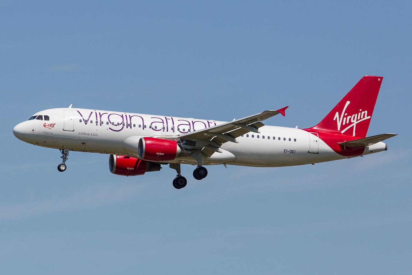 Noch bis August fliegt die EI-DEI in den Farben der Virgin. Danach verzichtet man wieder auf das Projekt mit eigenen Zubrinderflügen.