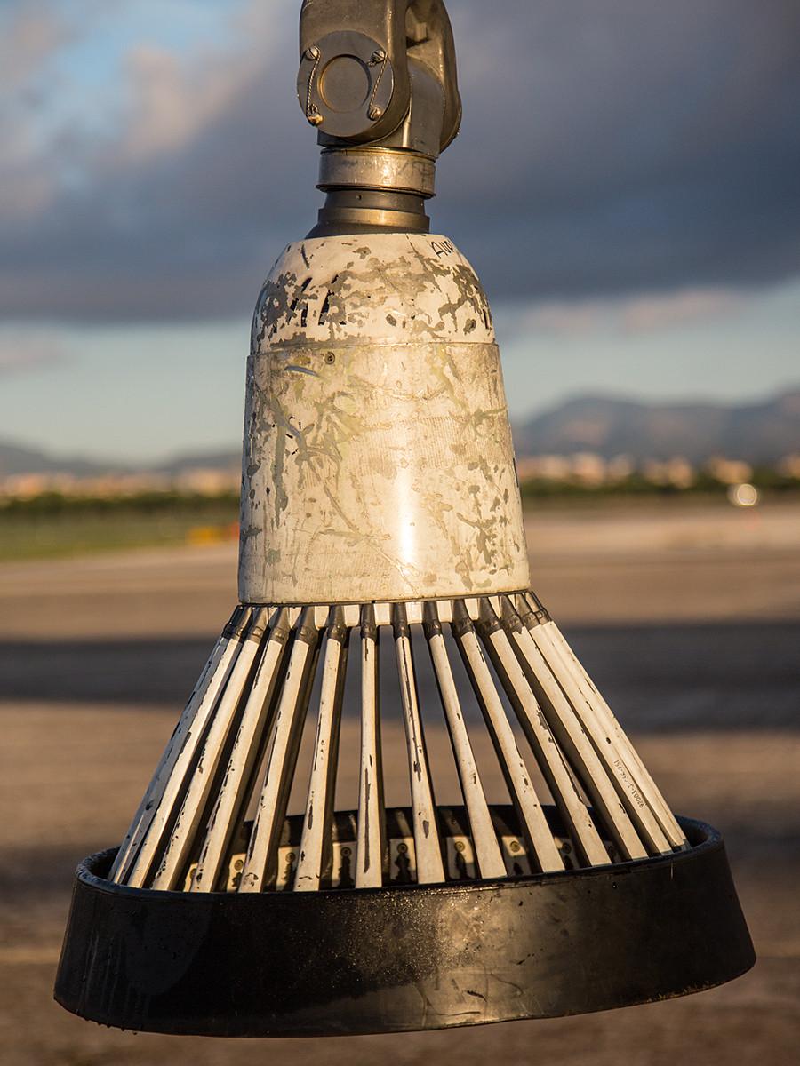 Im Gegensatz zu den Körben in den Tragflügelbehältern, ist der der Verlängerung aus Metall.