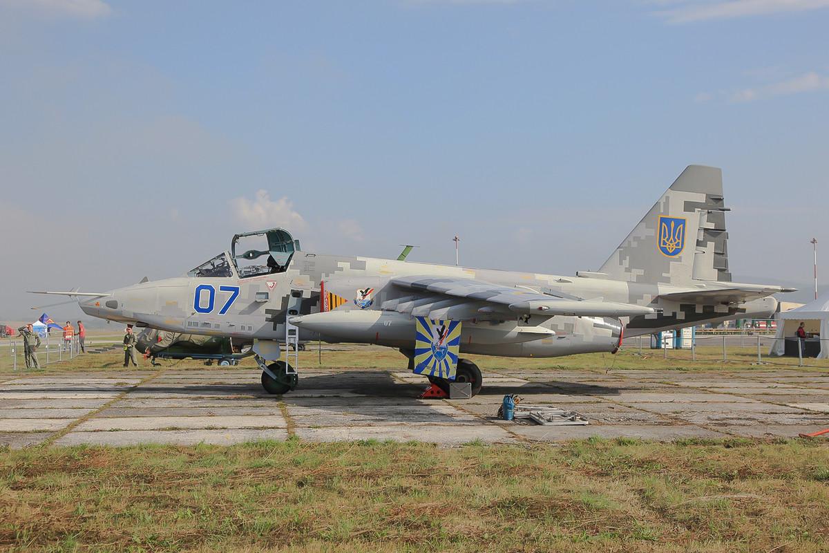 Die ukrainische SU-25 von aussen....