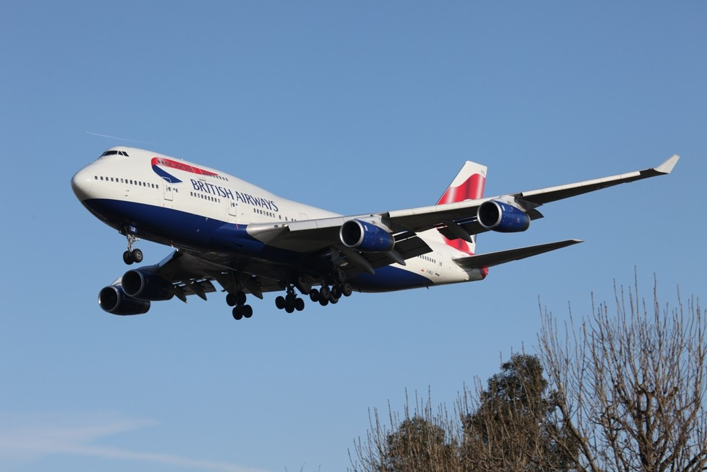 Boeing 747-400 der British Airways....