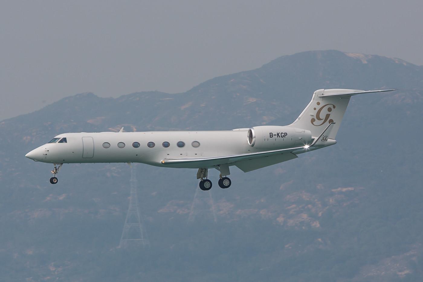 Gulfstream 550, die Businessjets in Hongkong sind im Durchschnitt größer als in Europa.
