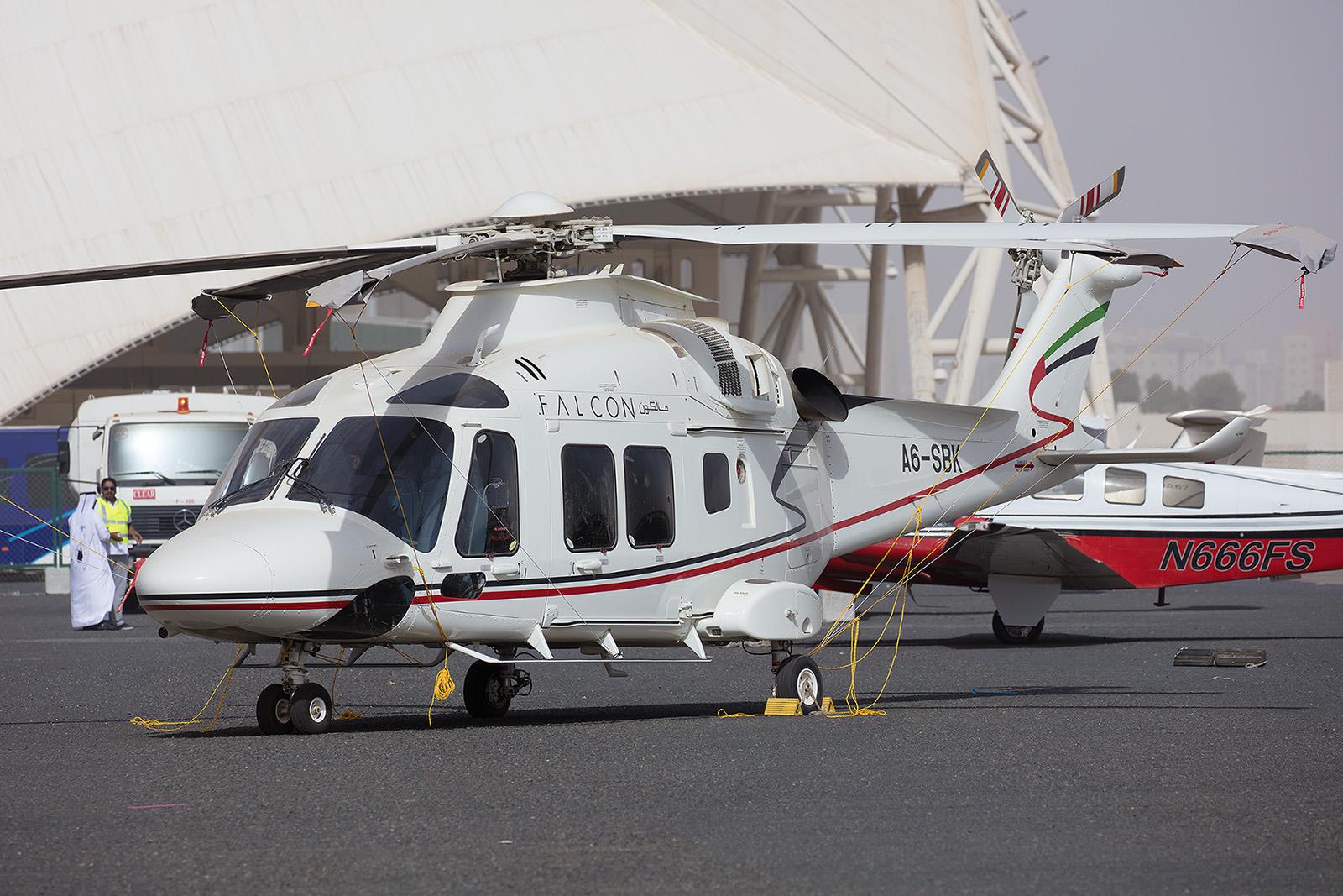 Falcon Aviation Service präsentierte diese AW-169.