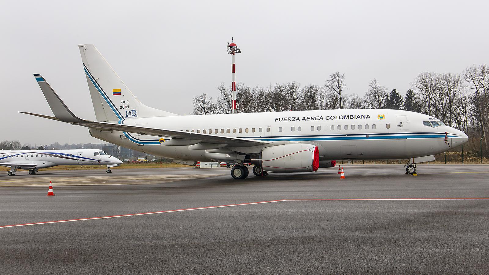 FAC0001, Boeing 737-74V (BBJ) der Fuerza Aerea Colombiana