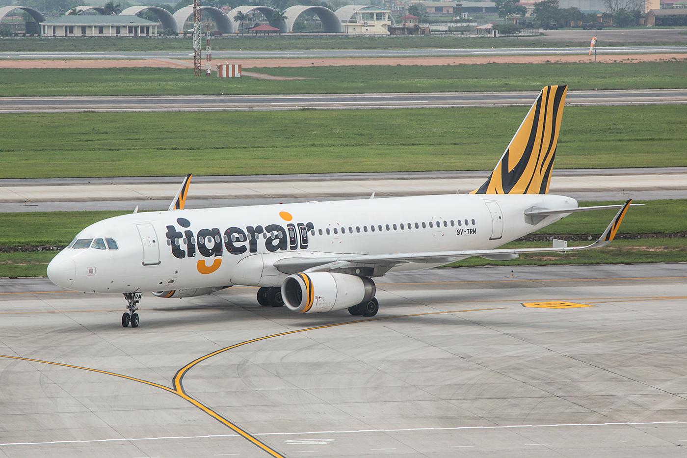 Tigerair aus Singapur.