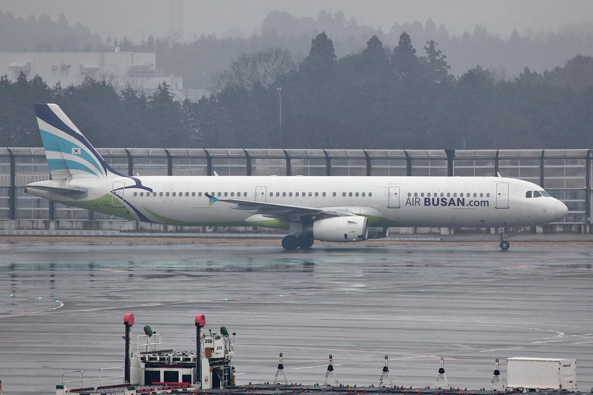 Air Busan aus Korea mit A 321.