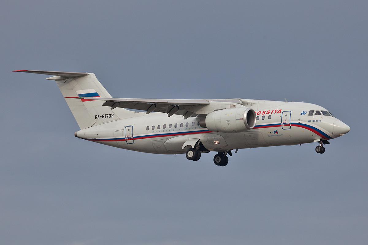 Die Antonov AN-148 der Rossia.