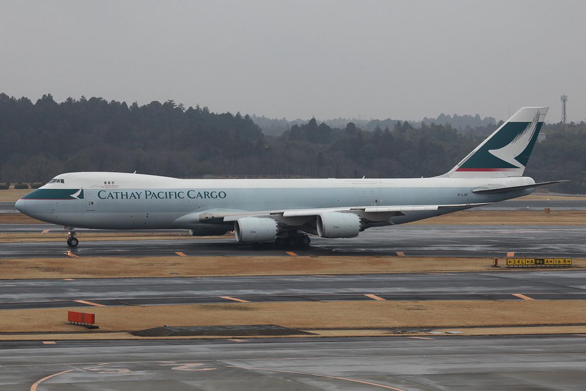 Boeing 747-8F der Cathay.