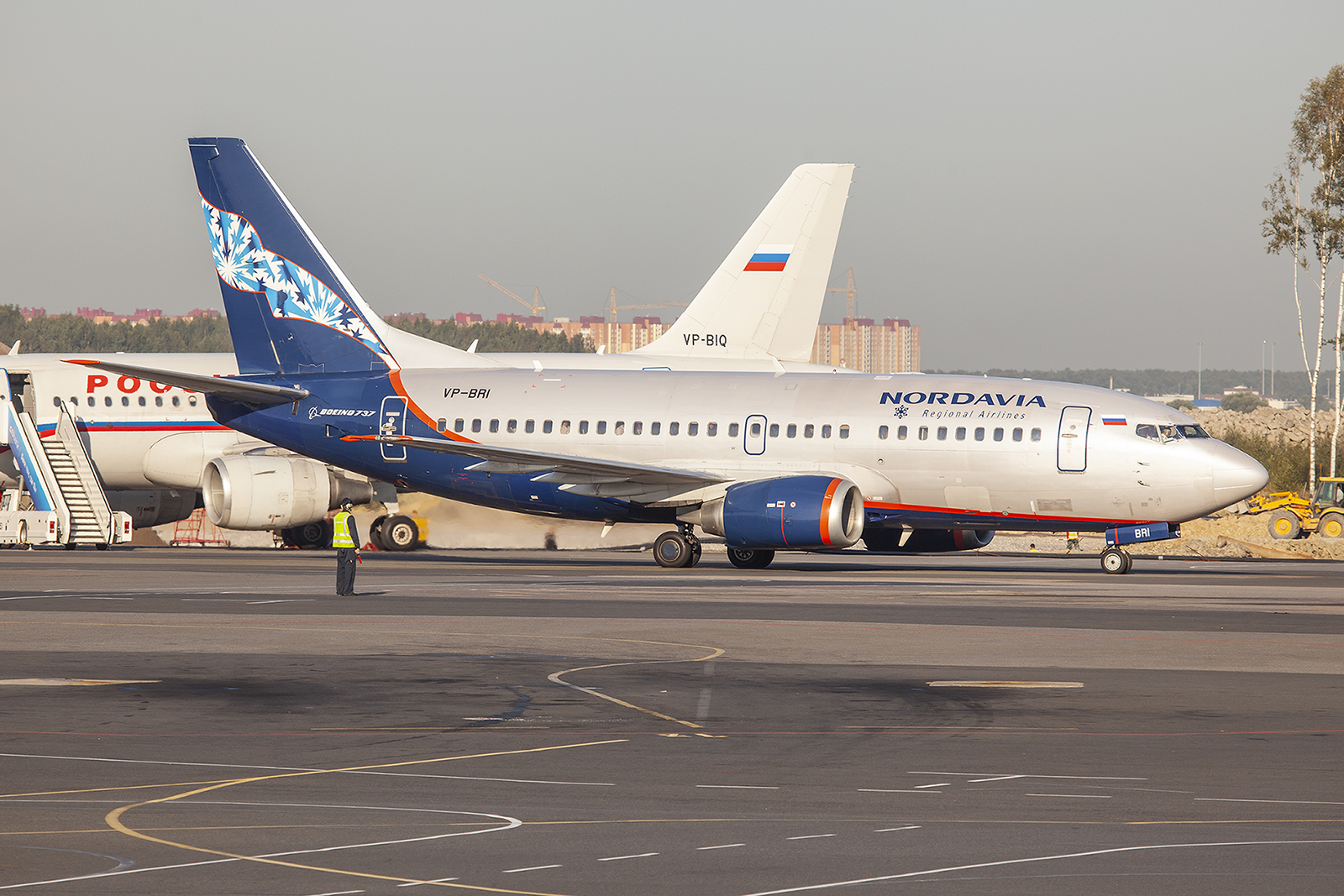 Nordavia, ein Ableger der Aeroflot.
