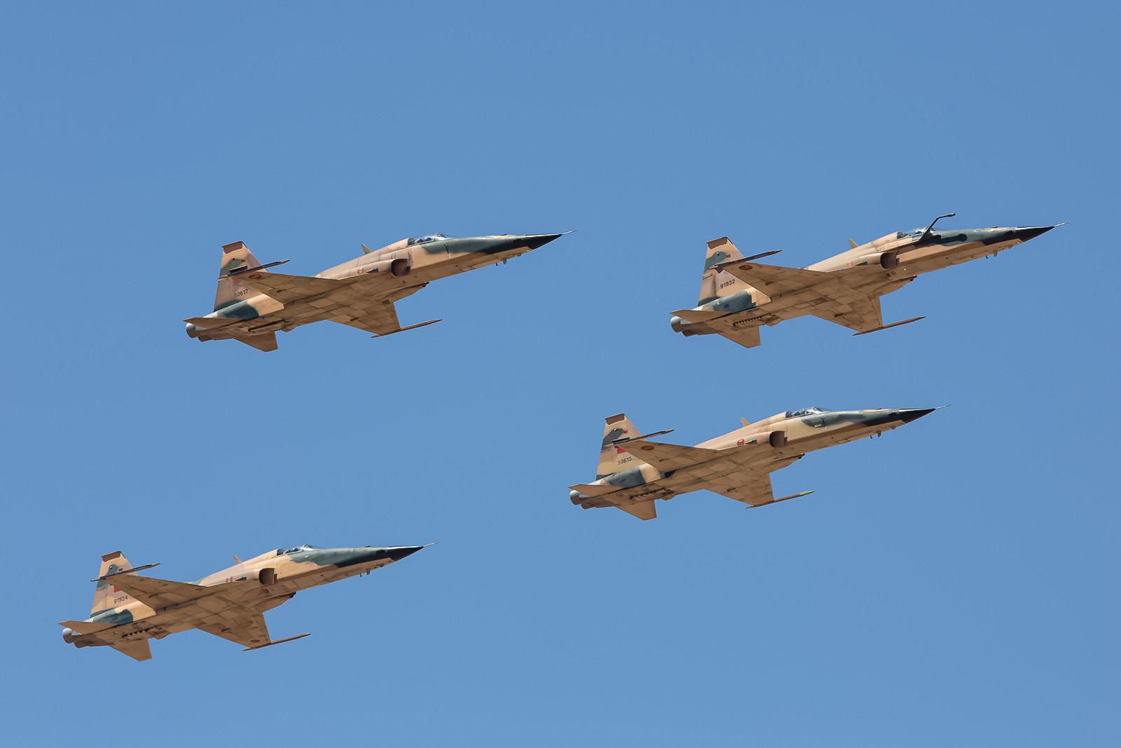 Dann die vier F-5E Tiger II der EC 2 ebenfalls aus Meknes.
