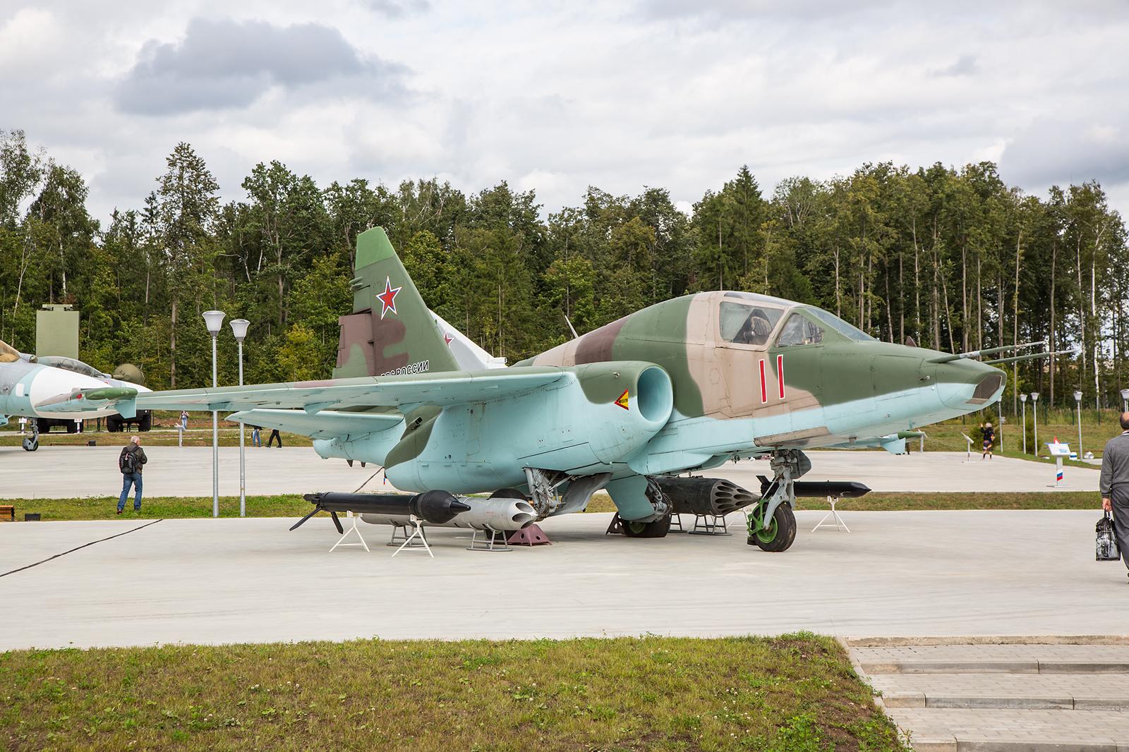 Die Sukhoi Su-25TM ist eine modernisierte Variante der Su-25 auf Basis des Doppelsitzers.