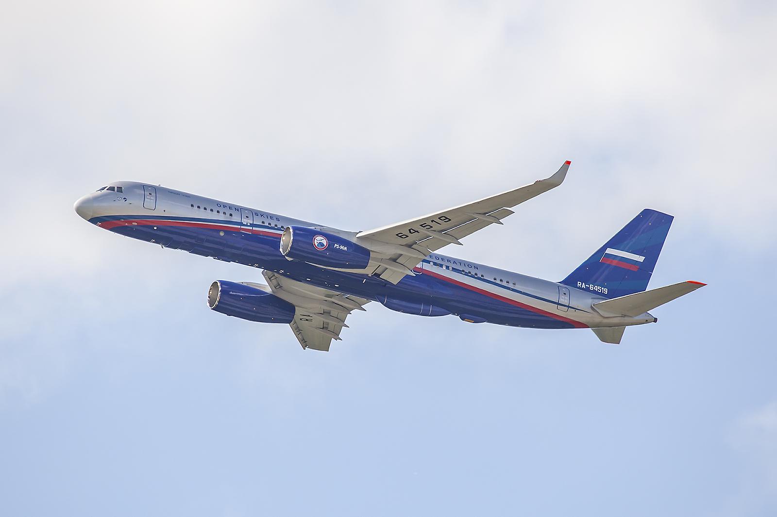 Open Sky TU204 der russsichen Luftwaffe