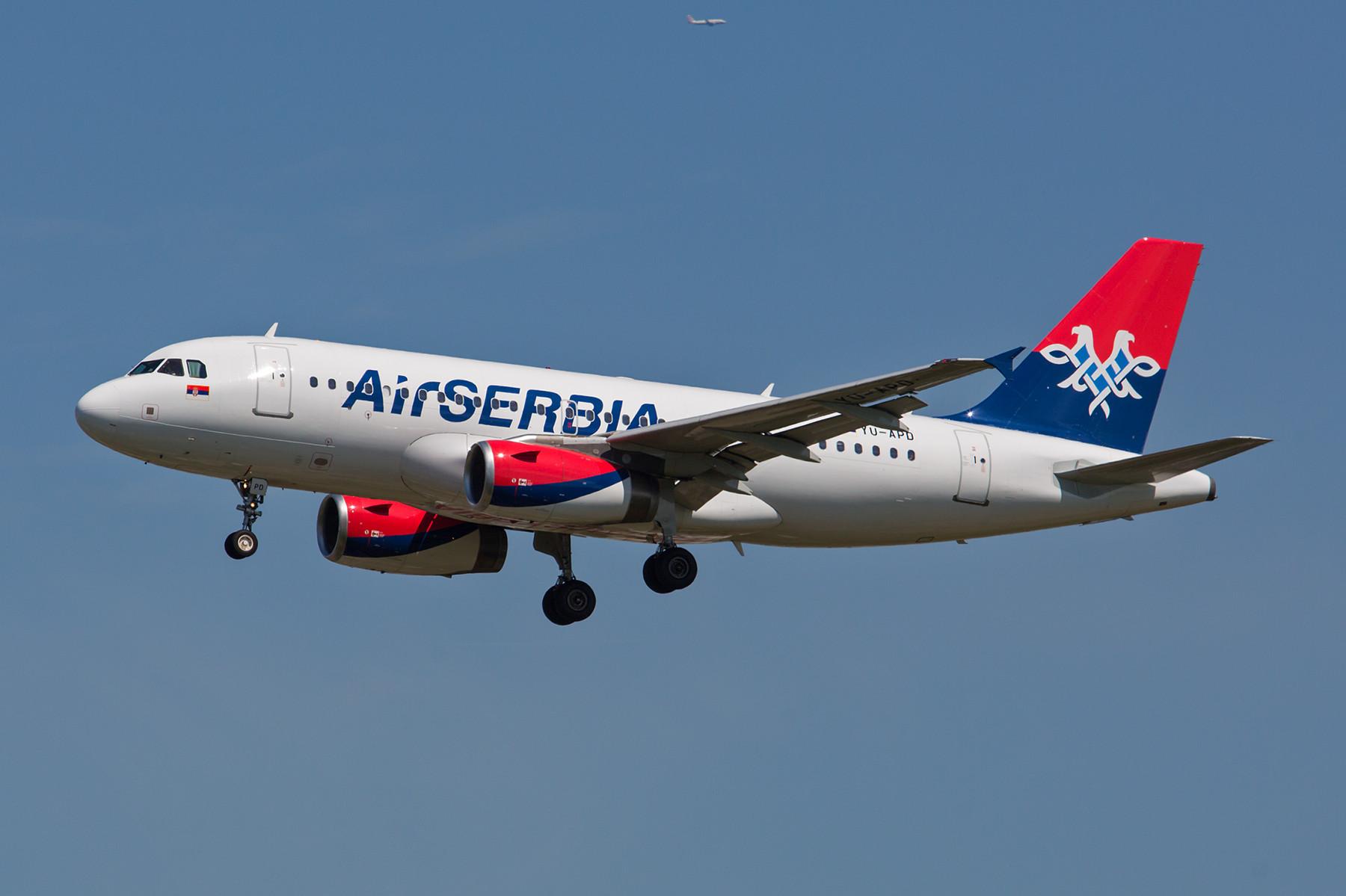 Die Air Serbia entstand aus der JAT und gehört praktisch der Ethiad Airways.