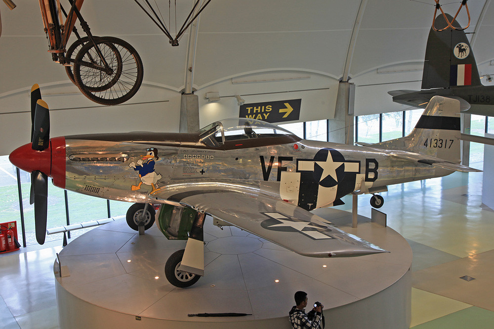 Am Standort in Hendon findet sich u.a. diese P-51D Mustang.