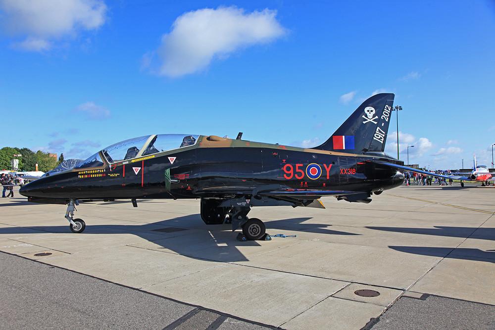 XX318, ein BAe Hawk der No. 100 Sqn aus RAF Leeming.