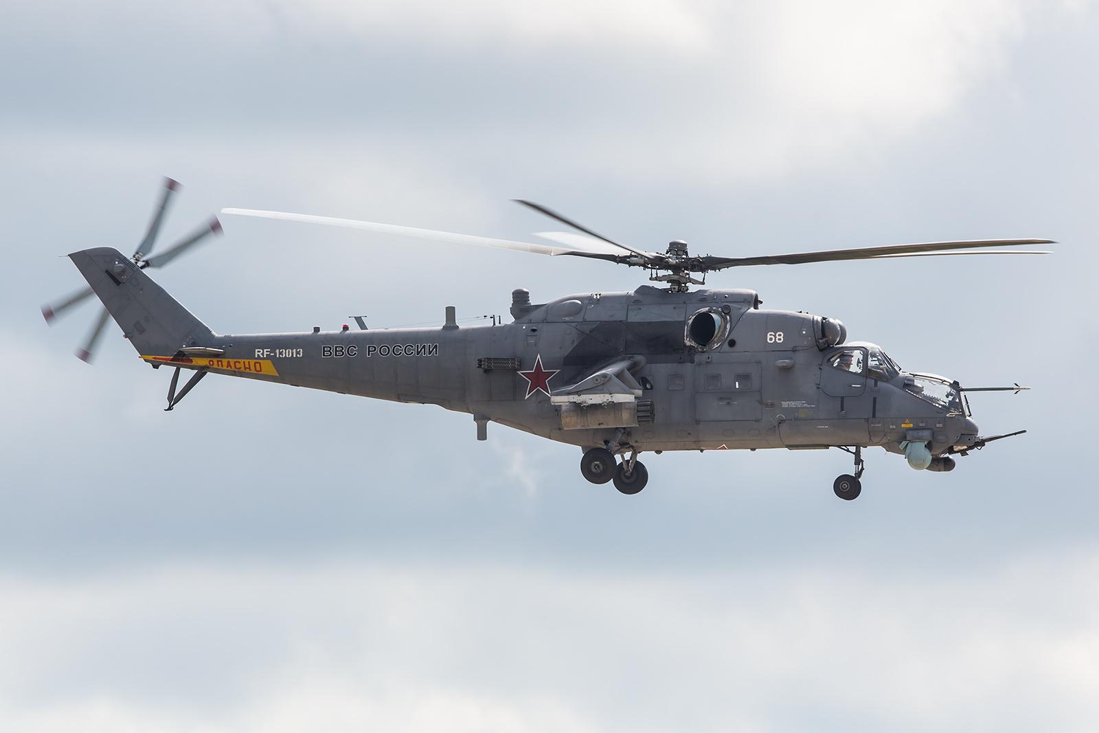 Noch immer im Einsatz der Mi-35 Hind.