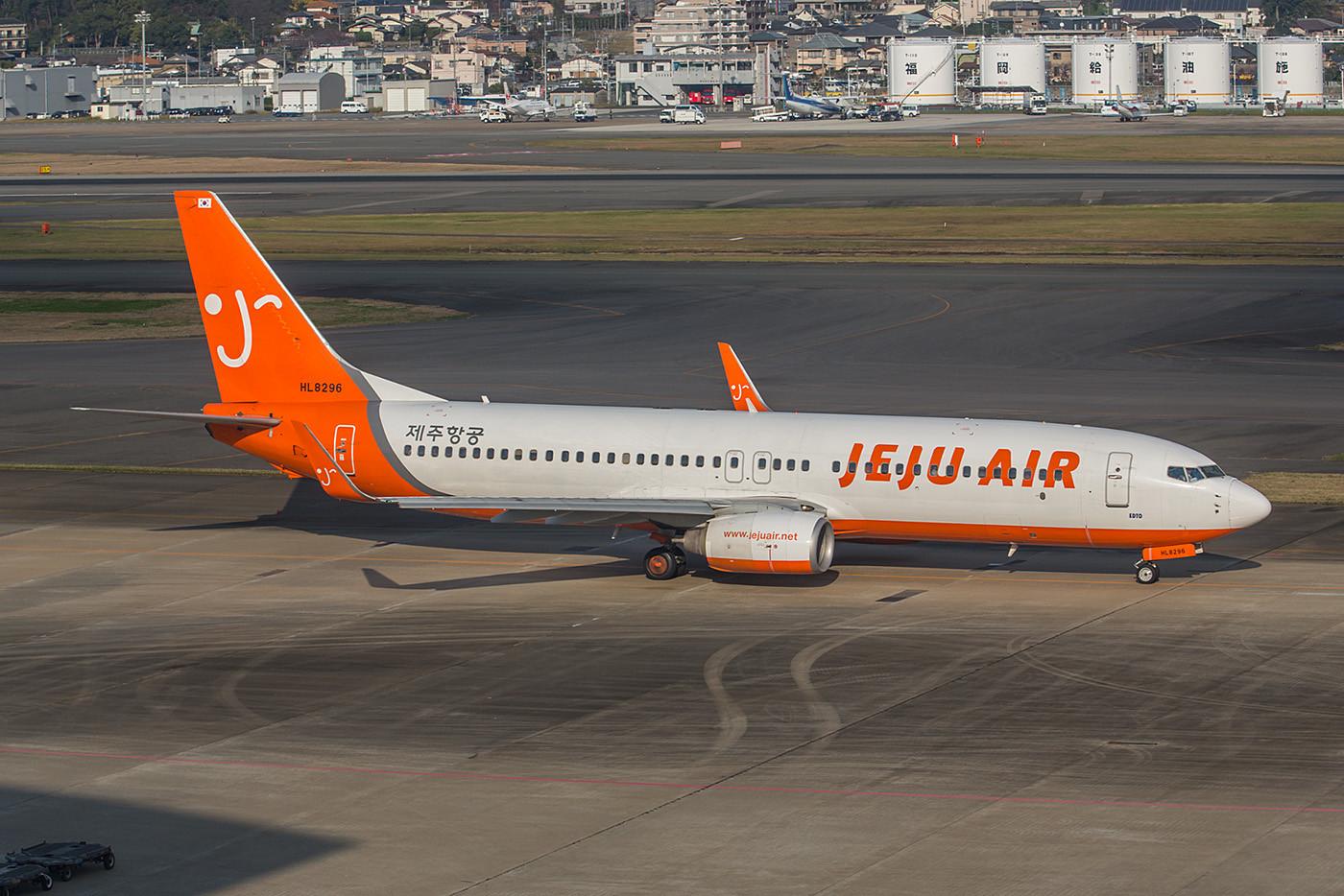 Die Jeju Air, hat ihren Hauptsitz auf der gleichnamigen koreanischen Urlaubsinsel. Sie betreibt derzeit 20 Boeing 737-800 auf Inlandsrouten und nach Japan und auf die Phillippinen.