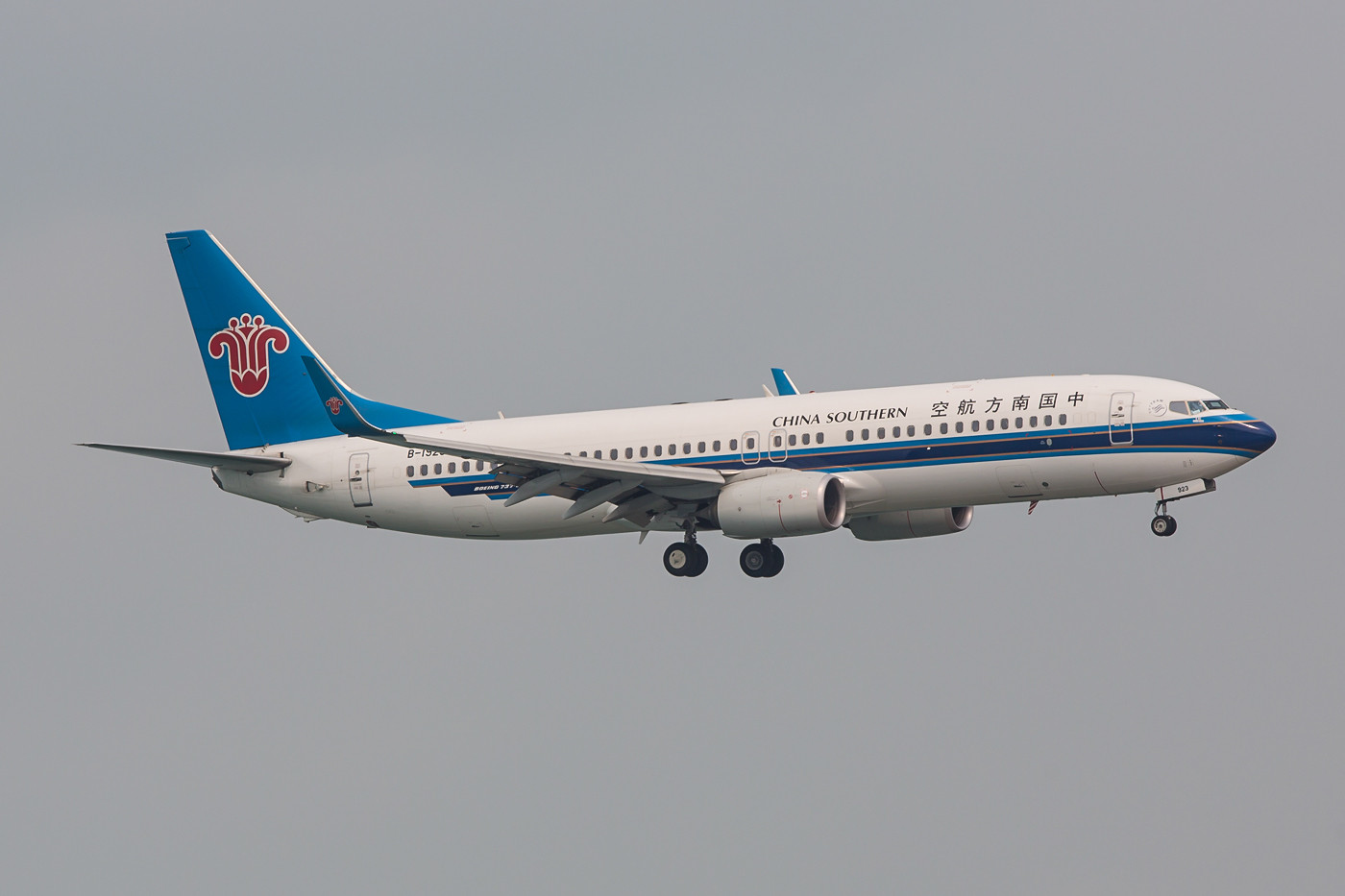 Chinas größte Airline, China Southern mit Boeing 737-800.