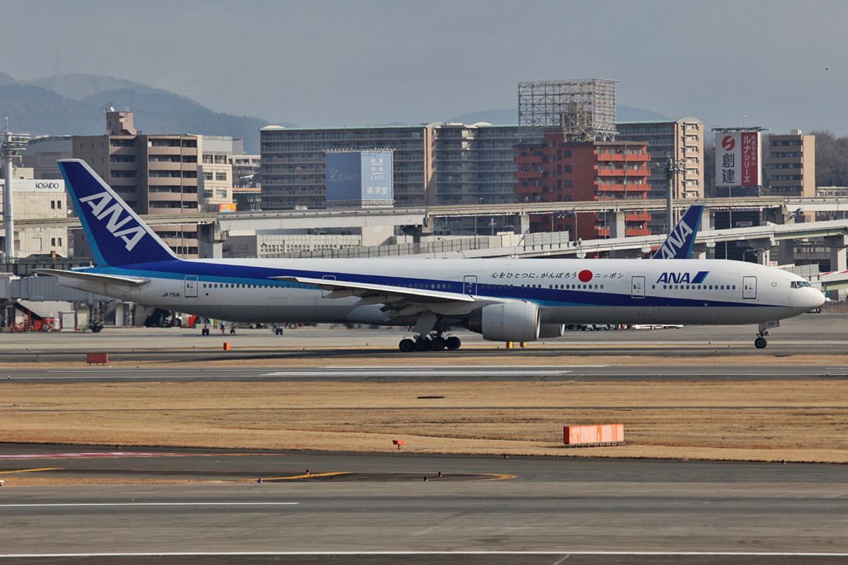 Auch hier trifft man die großen Boeing 777-300 im Inlandsverkehr.