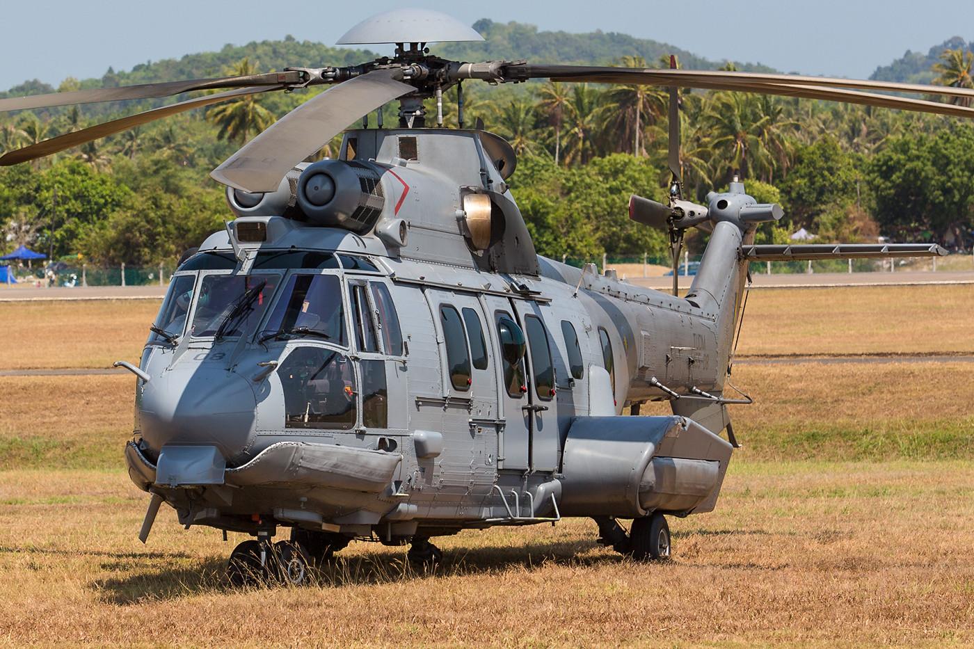 Die EC-725 Caracal sind derzeit der fortschrittlichste Hubschrauber von Airbus Military and Defence und wie die MB-339 in Kuantan stationiert.