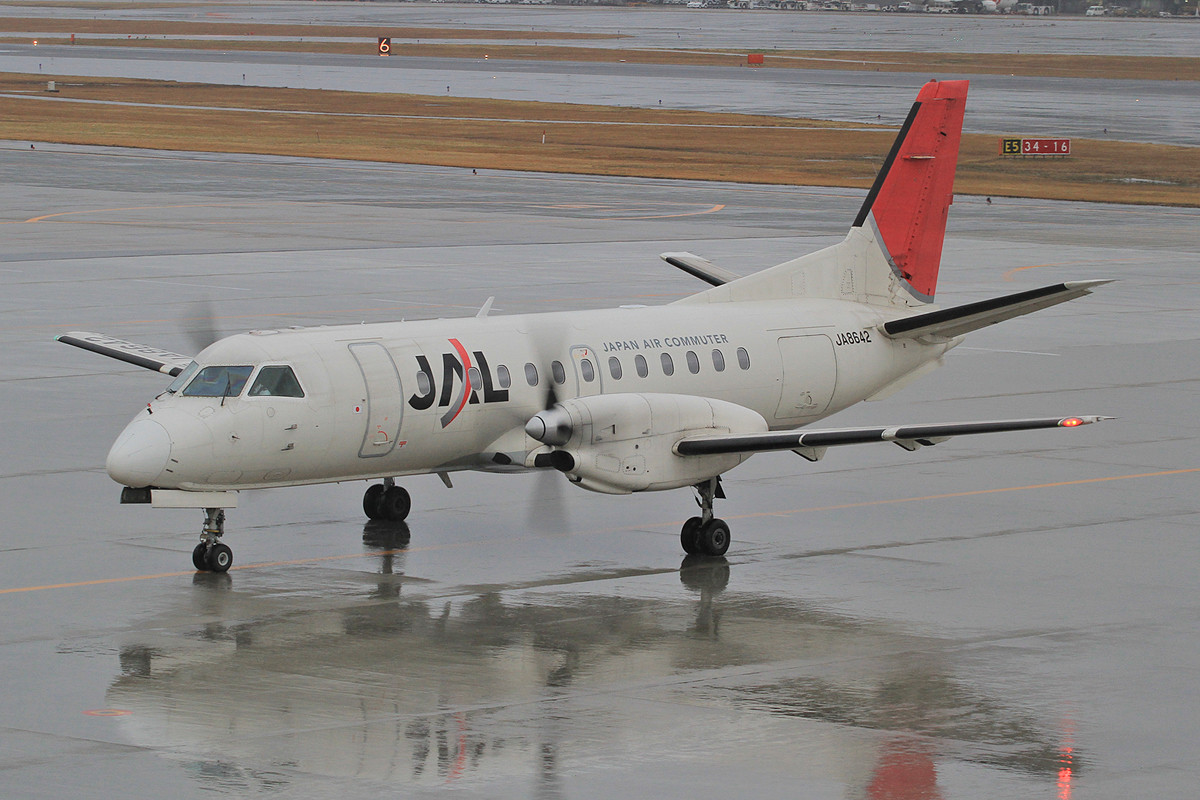 Saab 340 für die kurzen Strecken auf Kyushu.