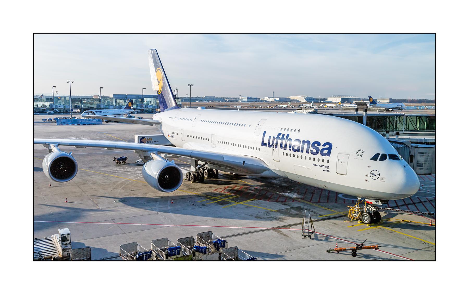 """Lufthansa A380-800 """"Zürich"""" D-AIMF nach FRA nach LAX"""