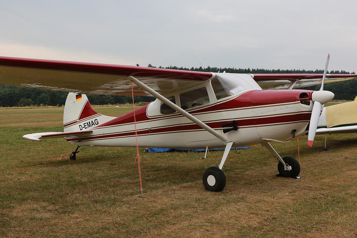In den 1950´ern hatten auch die Cessnas noch Spornräder, wie diese Cessna 170.