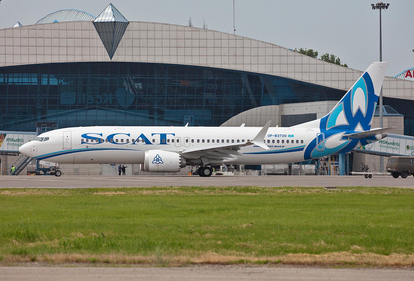 Die erste Boeing 737 MAX8 der Scatair. Insgesamt hat Scat sechs Exemplare bestellt.