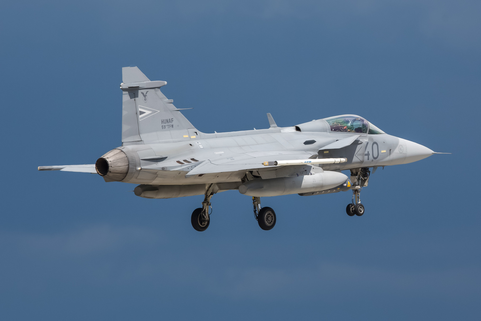 Saab JAS 39 Gripen der 59th TFW aus Kecskemet