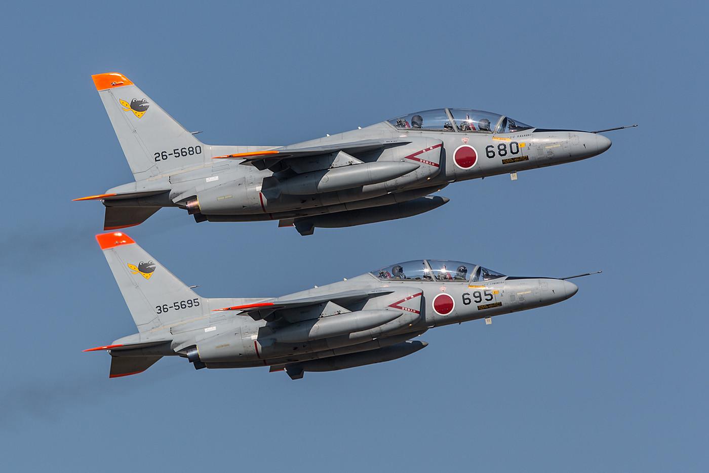 Auch die 301 Hikotai verfügt über Trainer vom Typ Mitsubishi T-4.