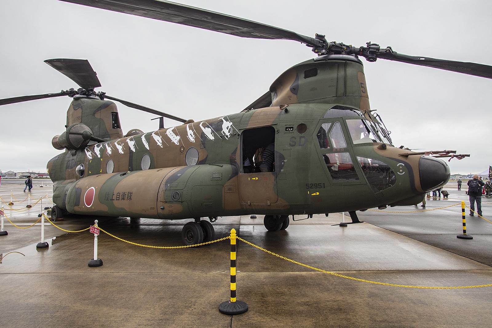 Die CH-47 im Static Display
