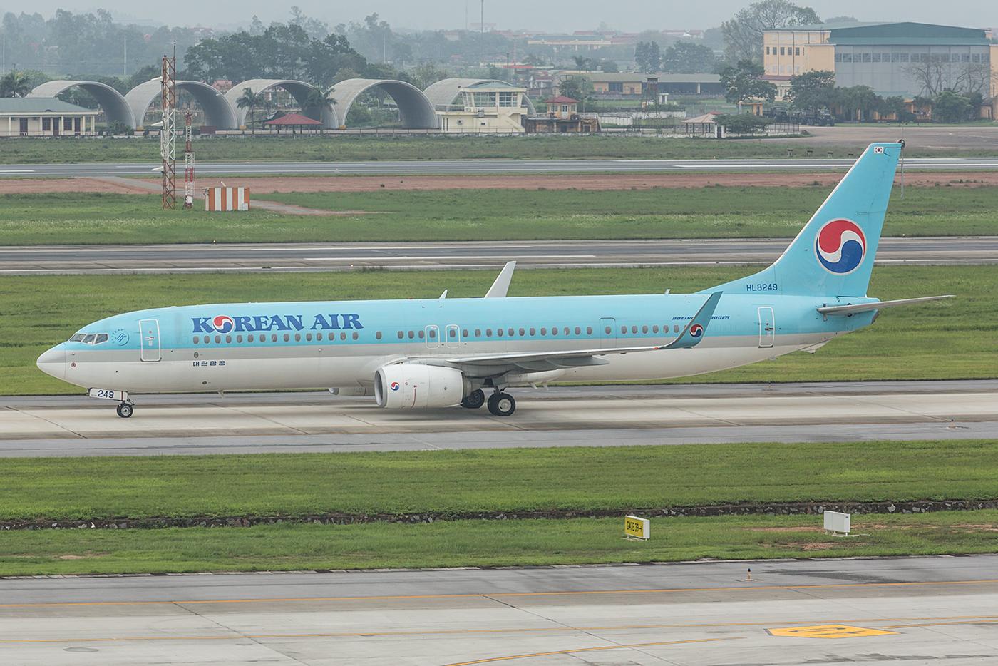Eine der vielen Boeing 737-900 der Korean Air auf dieser Reise.
