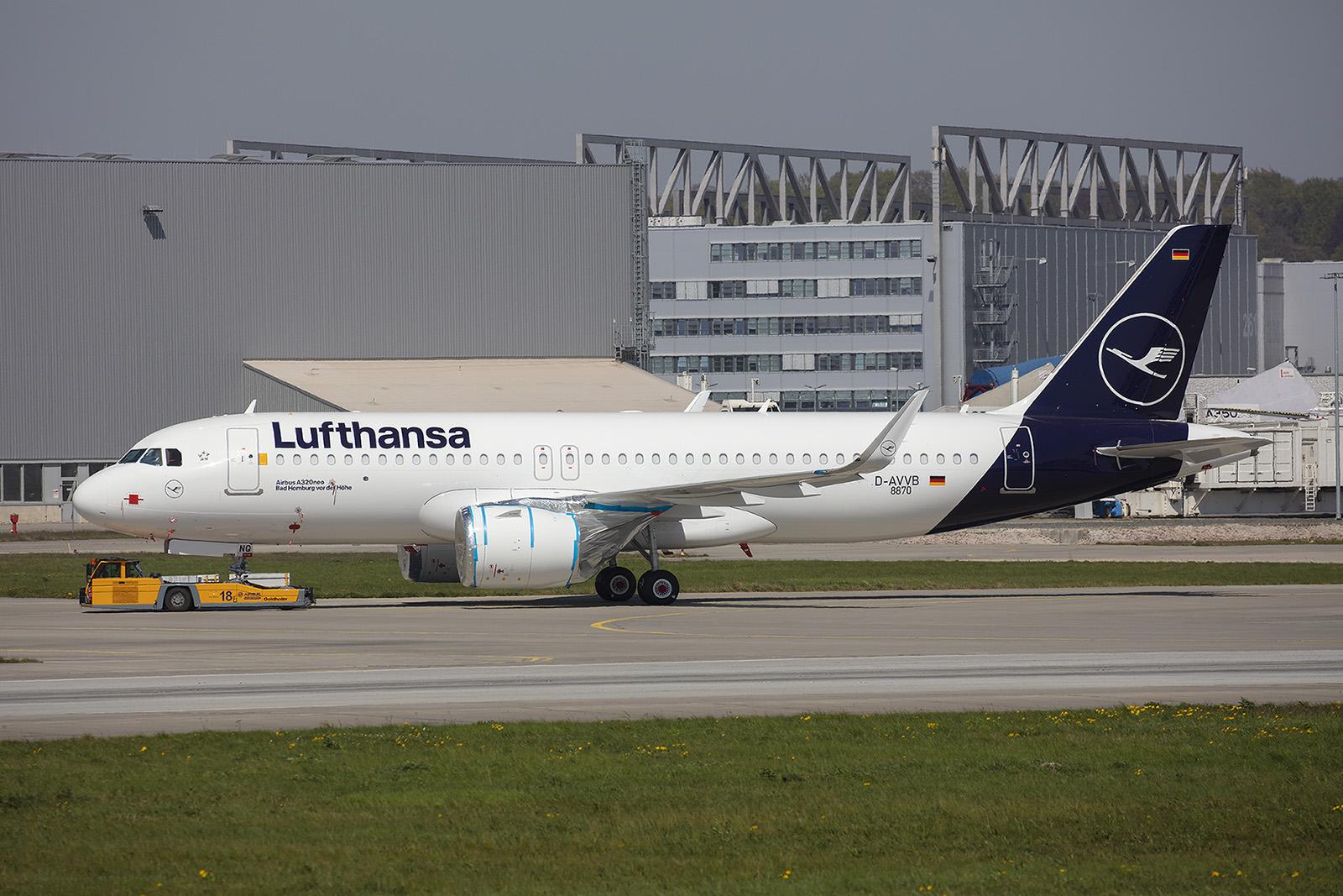 Dieser A 320NEO stand kurz vor der Auslieferung an Lufthansa.