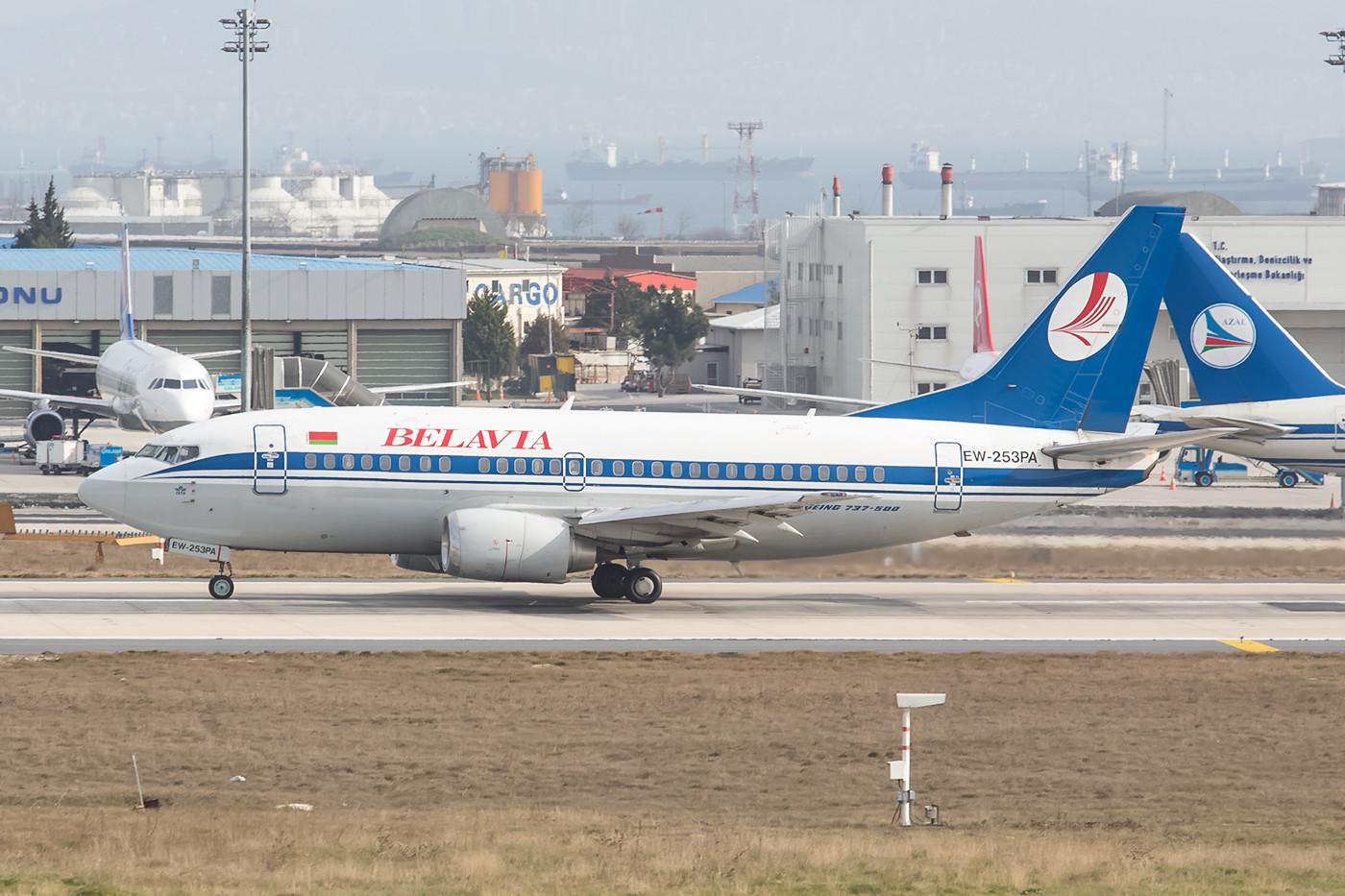 Boeing 737-500 aus Weißrußland.