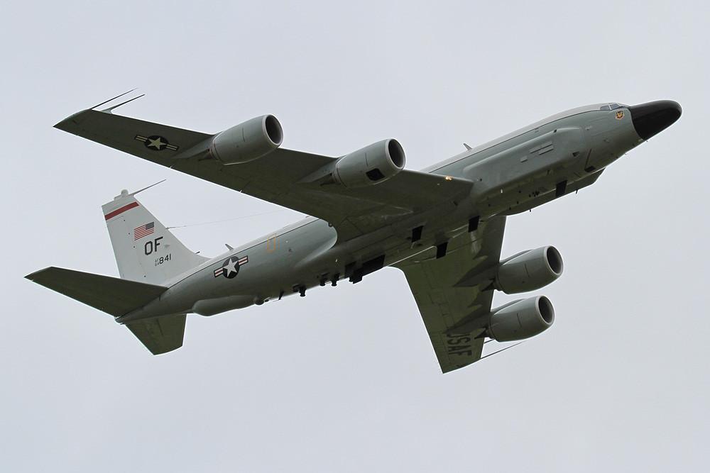 RC-135W von Offutt AFB (Nebraska). Die RAF plant insghesamt 3 KC-135 der USAF anzukaufen, um diese dann umbauen zu lassen.
