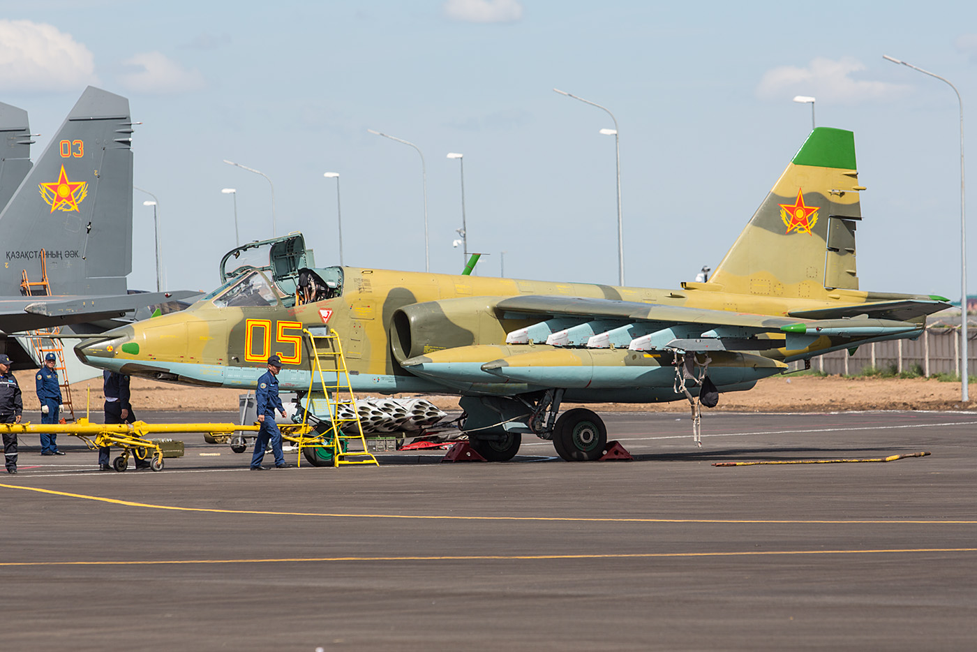 Sukhoi Su-25 bei der Vorbereitung auf den Heimflug.