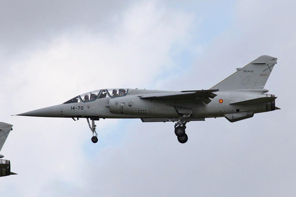 Einer der letzten beiden Doppelsitzer der Mirage F-1 in der Spanischen Luftwaffe.
