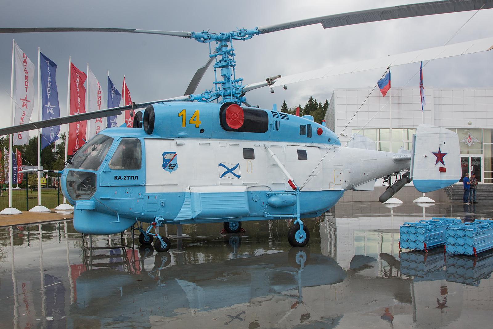 Die Ka-27, hier ebenfalls in den Farben der Marineflieger.