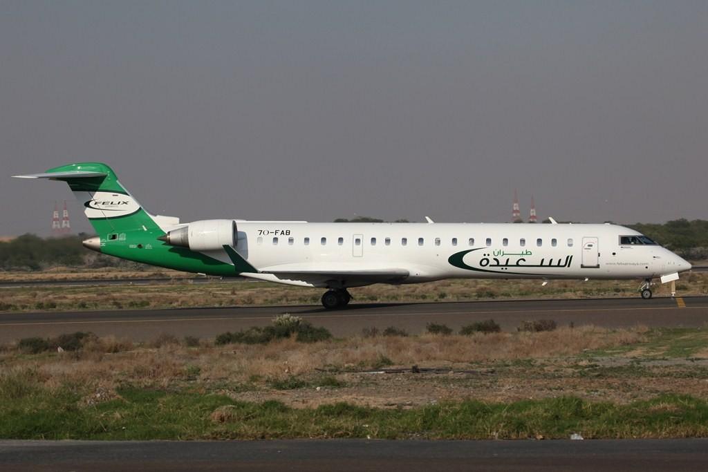 CRJ 700 der Felixair aus dem Jemen.