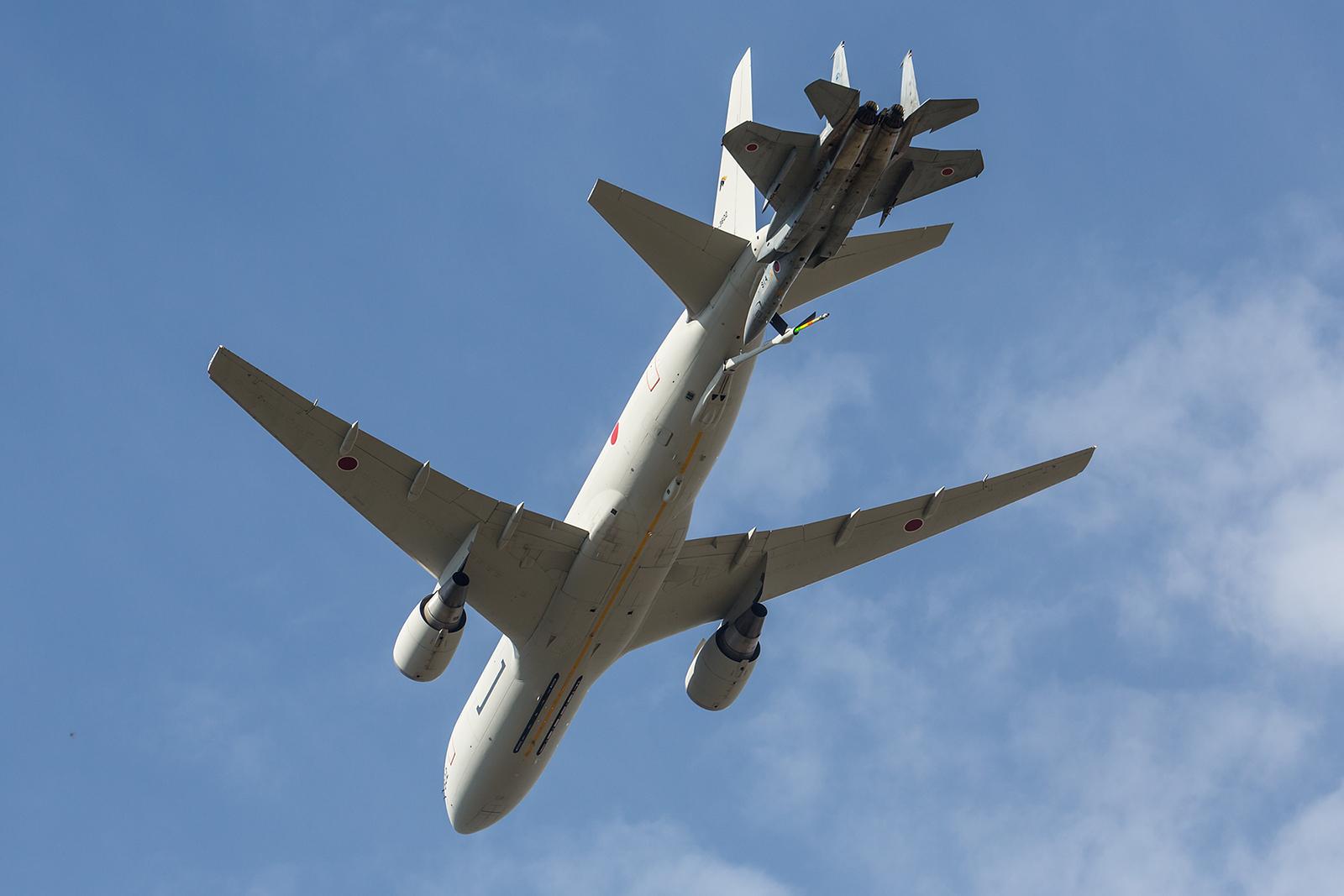 Simulation ener Luftbetankung mit einer KC-767 aus Komaki.